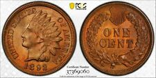 1892 1C PCGS MS64+ RB Indian Cent RicksCafeAmerican.com