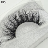 3D Mink Natural Thick False Fake Eyelashes hand made Lashes Makeup