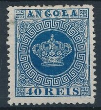 [54345] Angola 1870 Very good perf. 12.5 MH Fine stamp