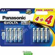 8 x Panasonic AA Evolta High Power Alkaline Batteries LR6 MX1500 MN1500 2027exp