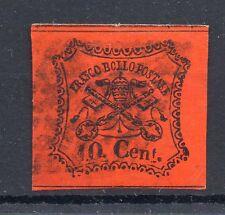 FRANCOBOLLI 1867 STATO PONTIFICIO 10 CENTESIMI VALORE USATO D/9347
