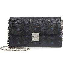 MCM Millie Monogrammed Leather Crossbody Bag Black