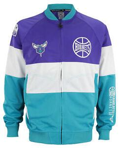 Zipway NBA Men's Charlotte Hornets Stamped Full Zip Athletic Jacket