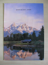 Chrysler Jeep Cherokee / Wrangler & fold out Viper Poster UK Sales Brochures 92