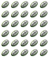 Rugby Balls x 30 Cupcake Toppers Edible Wafer Paper Fairy Cake Toppers