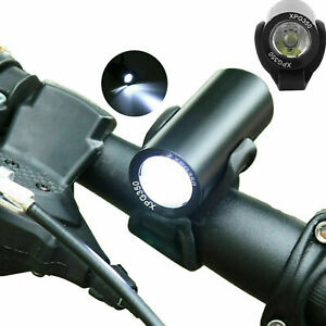 USB Rechargeable LED Bicycle Headlight Set Bike Head Light Front Lamp Cycling US