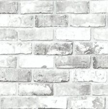 Wallpaper Debona Wallcoverings White Grey Silver Shimmer Brick 6751