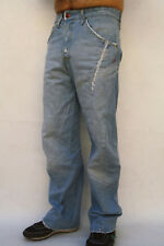 LEVIS Unthreads used look 132 RED LOOSE JEANS DENIM BLUE TWISTED FADED W30 L32