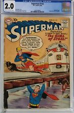 SUPERMAN #123 CGC 2.0 SUPERGIRL TRYOUT