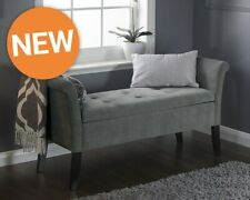 Balmoral Grey Chenelle Window Bench Ottoman Storage LOCAL DELIVERY