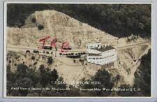 RPPC~AERIAL,SS GRAND VIEW POINT SHIP HOTEL,GAS STATION &GREYHOUND BUS~BEDFORD,PA