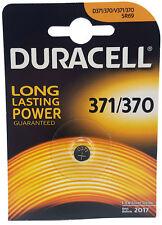 2 x Duracell 371 370 SR69 V371 SR920SW 1.55 volt Silver Oxide Watch Battery