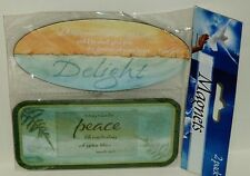 2 Pack Magnets Psalms 37:4 DELIGHT Isaiah 26:3 PEACE Full Word Written