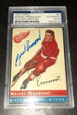 MARCEL PRONOVOST SIGNED TOPPS 1954 HOCKEY CARD #27 PSA/DNA Auto