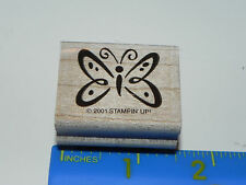 Stampin Up Rubber Stamp - Whimsical Butterfly (Insect) CUTE with Dots on Wings