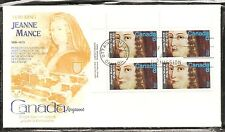 Canada SC # 615 Jeanne Mance FDC.Inscription BLK4. Kingswood Cachet