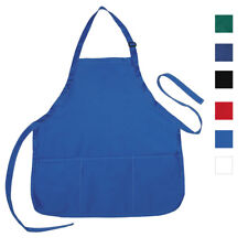 Full Size Aprons With 3 Waist Pockets For Kitchen Restaurants Waiters Salons