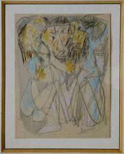 "Signed MARCEL JANCO Drawing Avant-garde ""DADA"" Israel Romania Modern Art Jewish"