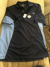 LinksTech Techno Dry Men's Athletic Fit Navy Shirt Size S Nwt