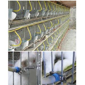 Rabbit Farm Automatic Feed Nipple Water Red Drinker Birds Feeder Gadgets YU