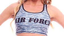 BodyZone Apparel AIR FORCE Print Crop Top. O/S. PA114. Made in the USA.