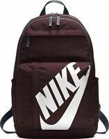 Nike Elemental Backpack Red Unisex Size 25 Litre Training School Bag Gym