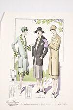 MODE Féminine 1925 Art Déco Paris Elegant Tailleurs Nouveaux Georges et Janin