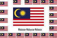 Assortiment lot de 25 autocollants Vinyle stickers drapeau Malaisie-Malaysia