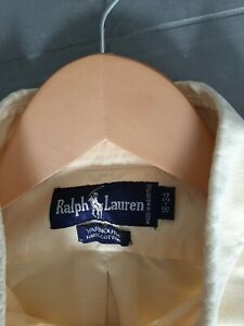 RALPH LAUREN MENS SHIRT SIZE LARGE PALE YELLOW GREAT CONDITION 16 COLLAR