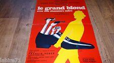 pierre richard LE GRAND BLOND AVEC UNE CHAUSSURE NOIRE  !  affiche cinema 1972