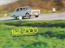 Fiat 2300 Saloon Automatic 1965-68 UK Market Foldout Sales Brochure