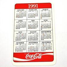 coca cola coke USA TASCABILE calendario pocket calendar 1991