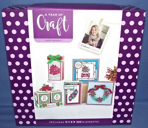 Crafters Companion A Year of Craft Box Kit Christmas Happy Holidays Priorityship