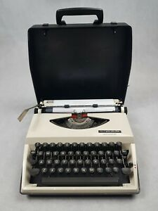 Adler Tippa Typewriter Vintage Fully Working Includes Carry Case Attachment