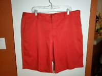 Nike Golf Dri Fit Tour Performance Red Shorts Mens 40 Polyester Spandex