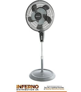 """BIONAIRE BASF1016GRC 16"""" STAND FAN, DOUBLE BLADE, 3 SPEEDS & REMOTE CONTROL"""