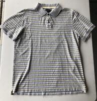 Men's Banana Republic Short Sleeve Striped Polo Shirt Pre-Owned Size XL