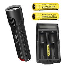 Nitecore EC4S 2150Lm Flashlight XHP50  w/2x NL189 18650 Batteries & UM20 Charger
