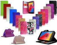 For Motorola Moto E4 XT1766 & E4 Plus XT1771 New Black Leather Wallet Phone Case
