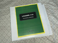 JOHN DEERE 110 LOADER BACKHOE TRACTOR  SERVICE REPAIR MANUAL BINDER tm1987