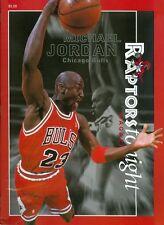 1998 Toronto Raptors vs Chicago Bulls Program: Michael Jordan
