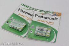 6 X Authentique Panasonic AAA NI-MH Dect Téléphone Sans-Fil Piles - 750mAh,1.2V