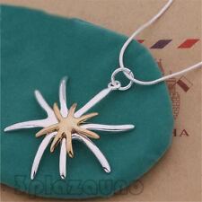 Moda Joyería Hermosa Color Separación Estrella de mar Colgante Collar UNO