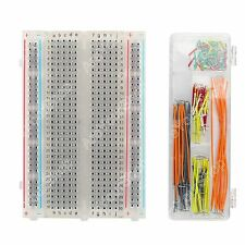 Breadboard Clear Crystal 400 Tie Point + 140Pcs Jumper Câble Wires Arduino