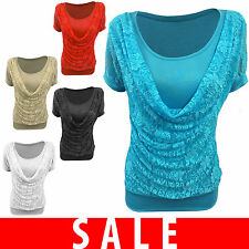 Party Patternless Regular Size Blouses for Women
