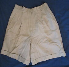 Talbots Petites beige linen blend lined dress shorts 6P *FREE SHIPPING*Very Nice