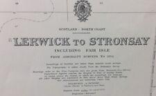 ADMIRALTY SEA CHART. No.1119. LERWICK to STRONSAY, FAIR ISLE,FOULA.SCOTLAND.1959