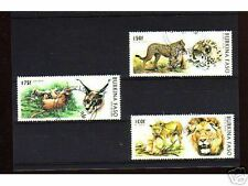 1033++BURKINA FASO   SERIE TIMBRES  ANIMAUX SAUVAGES