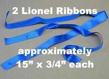 LIONEL REPLACEMENT LOCOMOTIVE LIFTING RIBBONS FOR YOUR ENGINES & CARS PAIR (2)