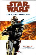 STAR WARS  :CLONE WARS  N° 2  victoires et sacrifices   EDITIONS   DELCOURT